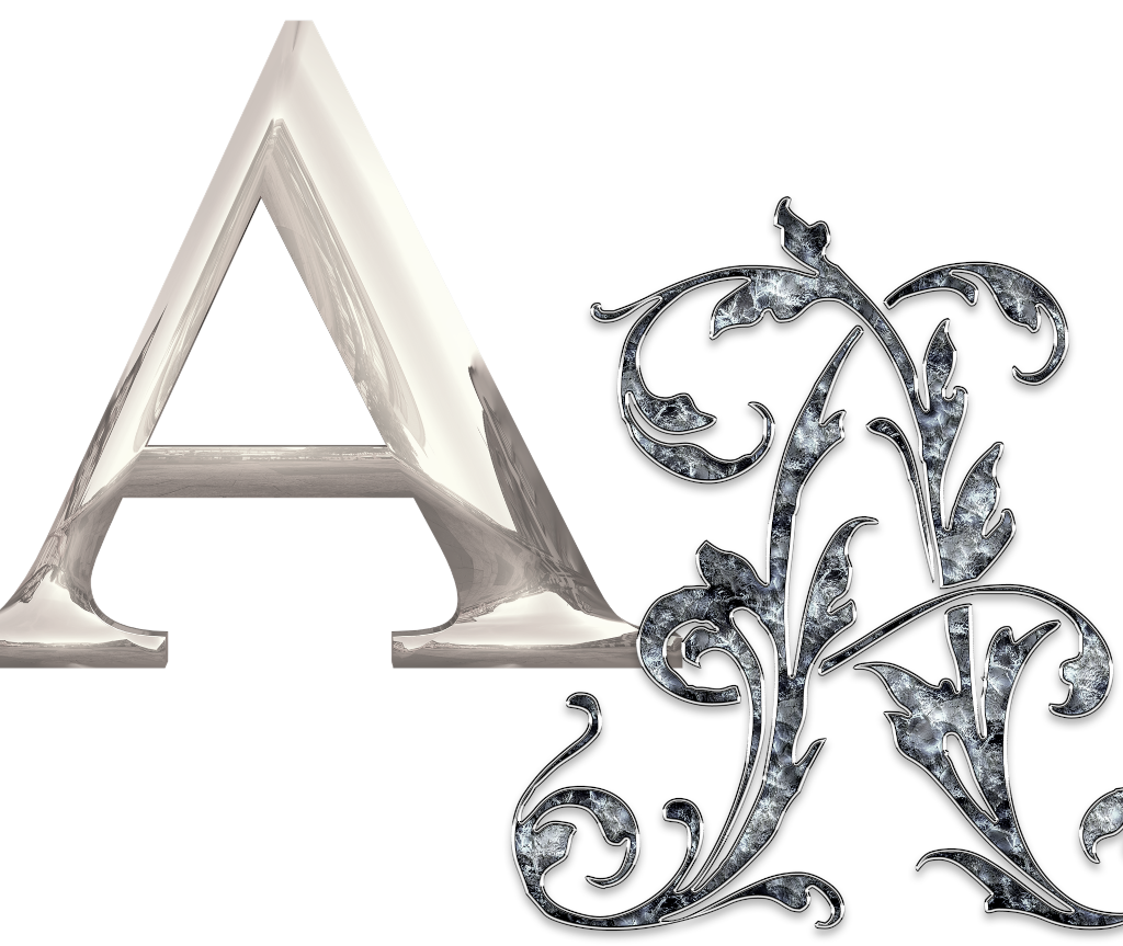 czcionki litery fonts